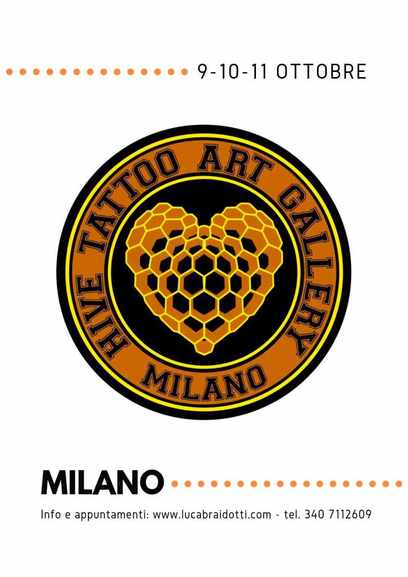 Luca Braidotti guest Hive Tattoo ottobre 2019