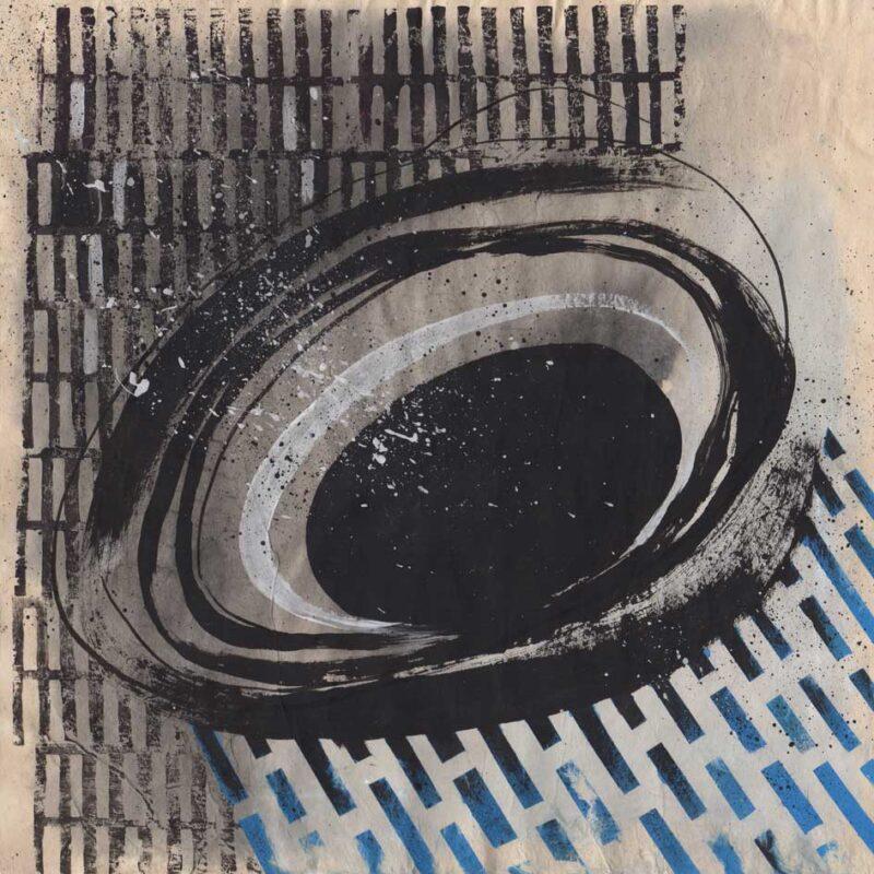 Buco nero #2, tempera su carta lokta