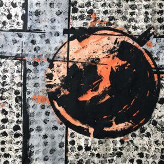 Pittura astratta serie Collettività #3
