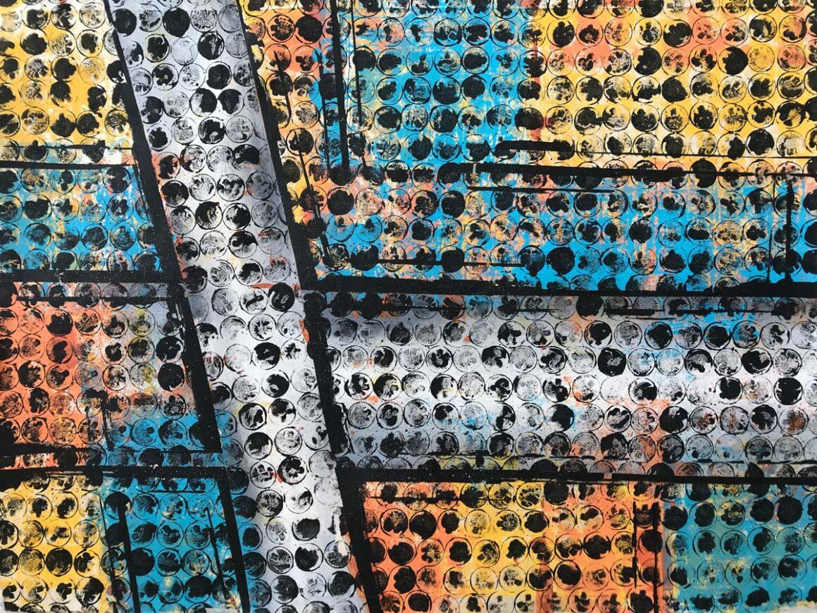 Pittura astratta serie Collettività #4
